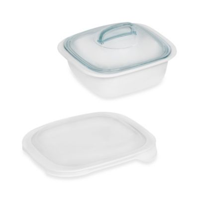 Corelle® Bake, Serve & Store™ 1.5-Quart Baking Dish with Lids in White