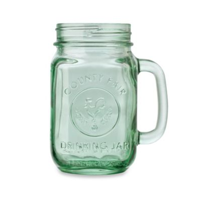 Libbey® Glass County Fair 16.5-Ounce Mason Drinking Jar in Light Green