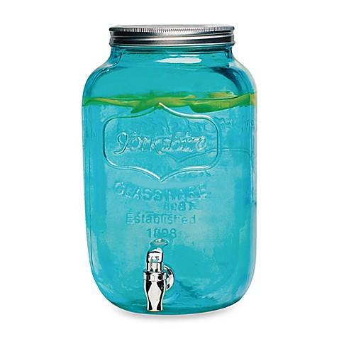 Buy Mason Jar 2 Gallon Beverage Dispenser In Blue From Bed