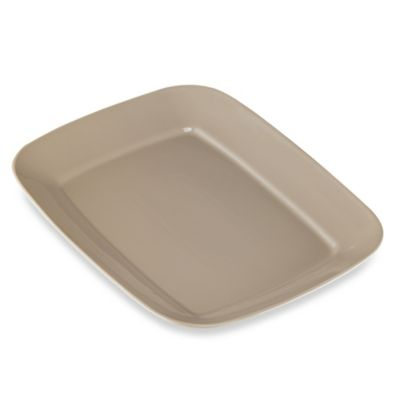 Real Simple® Rectangular Large Serving Platter in Taupe