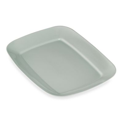 Rectangular Rim Serving Platter in Seaglass