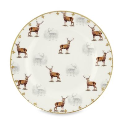 Spode® Glen Lodge Stag Salad Plate (Set of 4)