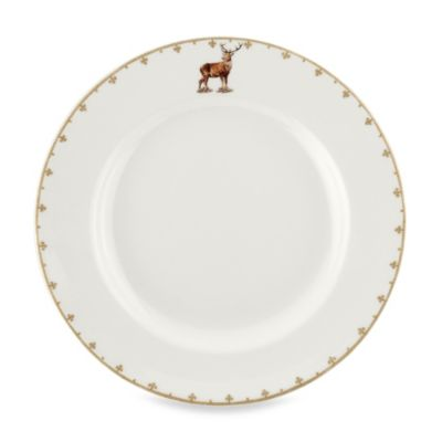 Spode® Glen Lodge Stag 10.5-Inch Dinner Plate (Set of 4)