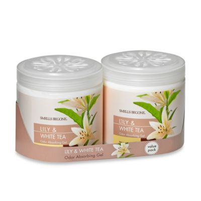 Smells BeGone® 2-Pack Lily & White Tea Odor Absorbing Gel 15-Ounce Jars