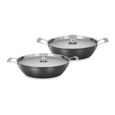 "Mario Batali by Dansk™ ""Mario Light"" Round Cast Iron Braisers in Black"