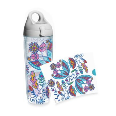 Tervis® Bohemian Flowers 24-Ounce Water Bottle with Lid