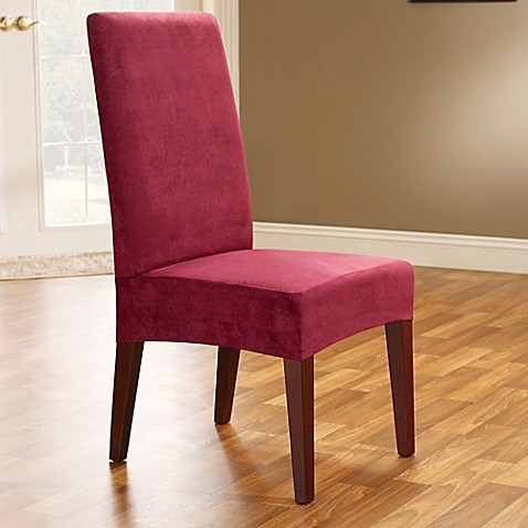 Sure Fit 174 Soft Suede Shorty Dining Room Chair Slipcover