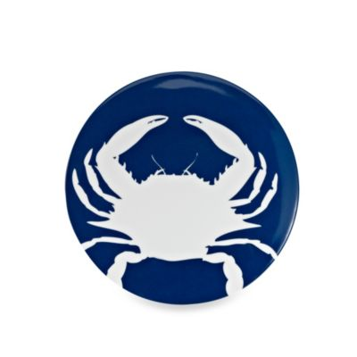 Icon Crab Round 8.8-Inch Salad Plate