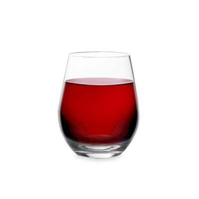 Shatterproof Clear Stemless Red Wine Glass