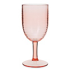 Bark 12-Ounce Wine Goblet in Coral