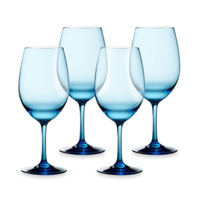 Cool Blue 21-Ounce White Wine Glasses (Set of 4)