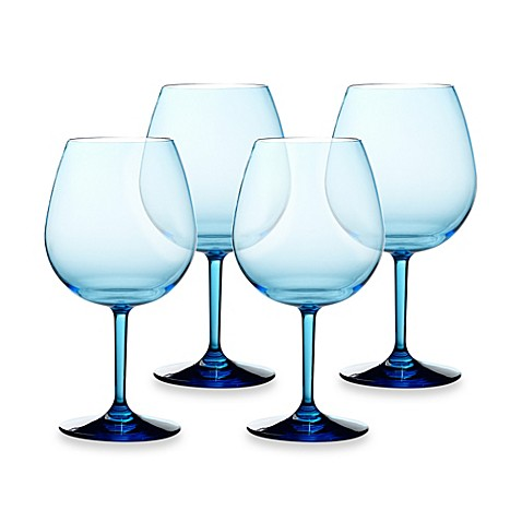 buy cool blue 23 ounce red wine glasses set of 4 from