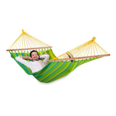 Coolaroo Single Person Hammock with Bar in Lime