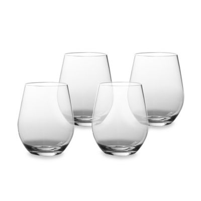 Tritan 20-Ounce Clear Stemless Wine Glasses (Set of 4)
