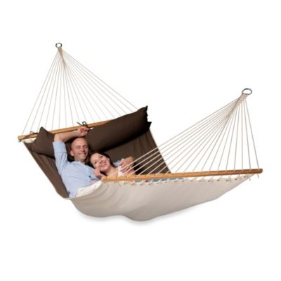 Coolaroo Double Person Hammock with Bar in Red Pepper