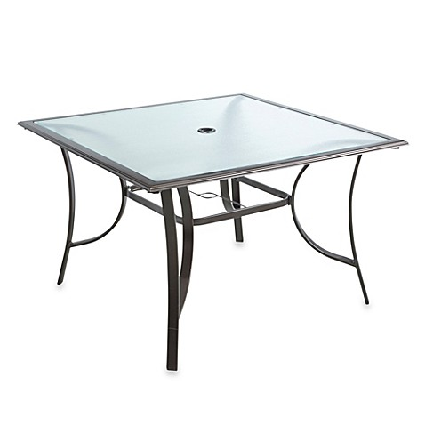 buy 44 inch 4 person square glass top dining table from