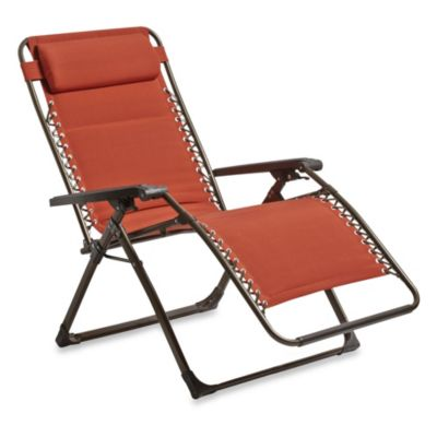 Deluxe Oversized Padded Adjustable Zero Gravity Chair in Terracotta