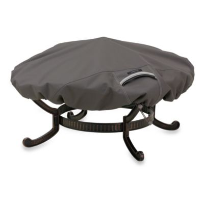 Classic Accessories® Ravenna Large Round Fire Pit Cover in Dark Taupe