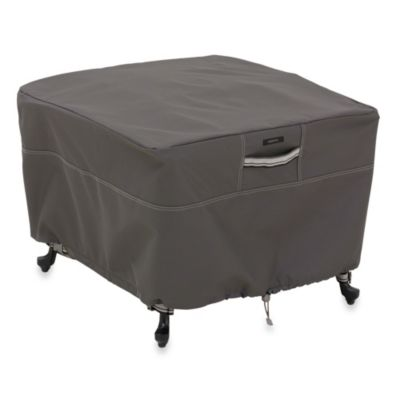 Classic Accessories® Ravenna Large Square Ottoman/Side Table Cover in Dark Taupe
