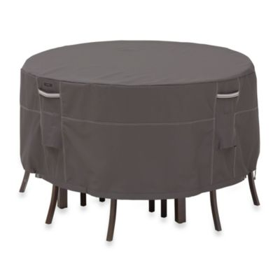 Classic Accessories® Ravenna Patio Bistro Set Table and Chair Cover in Dark Taupe