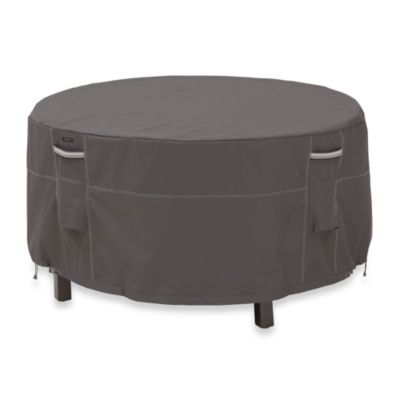 Classic Accessories® Ravenna Tall Round Patio Table and Chair Set Cover in Dark Taupe