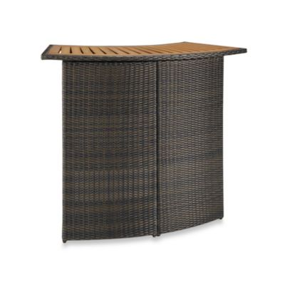 Riviera Outdoor Woven Wicker Bar