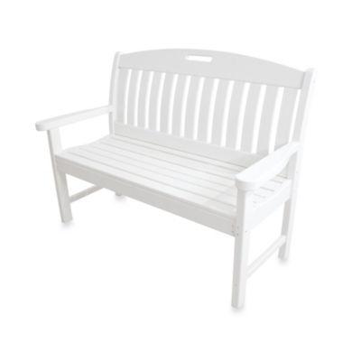 POLYWOOD® Nautical Bench in White