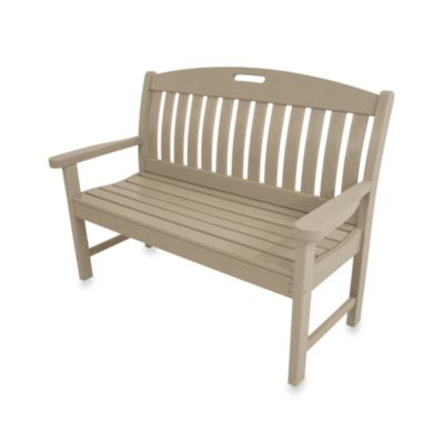 POLYWOOD® Nautical Bench in Mahogany