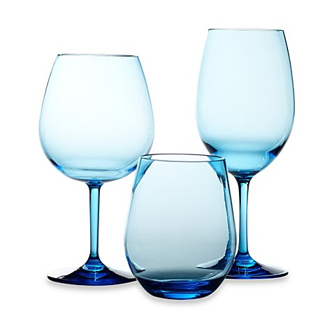 Cool Blue Wine Glasses Set Of 4 Bed Bath Beyond