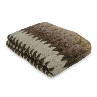 Chevron Throw Blanket in Beige/Brown