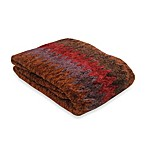 Chevron Throw Blanket in Red/Brown