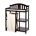 Reese Dressing Table With Hamper in Dark Espresso
