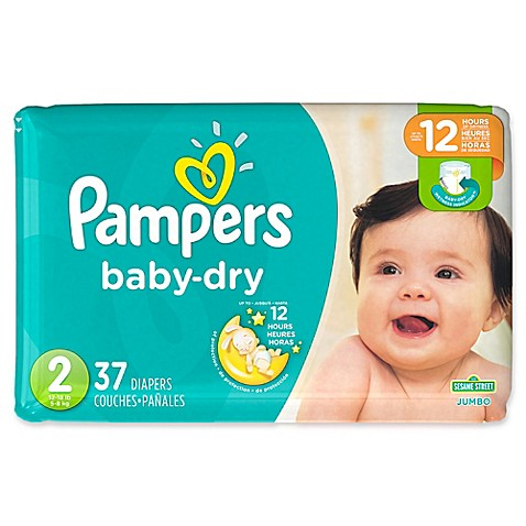 Pampers 174 Baby Dry 37 Count Size 2 Jumbo Pack Disposable