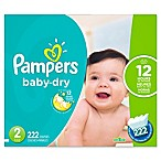 Pampers® Baby Dry™ 222-Count Size 2 Economy Pack Plus Disposable Diapers