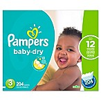 Pampers® Baby Dry™ 204-Count Size 3 Economy Pack Plus Disposable Diapers