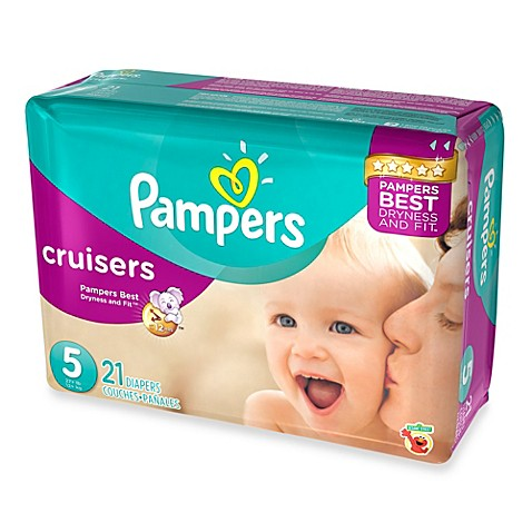 pampers cruisers 21 count size 5 jumbo pack disposable. Black Bedroom Furniture Sets. Home Design Ideas