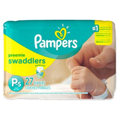 Pampers® Swaddlers™ 27-Count Size Preemie Jumbo Disposable Diapers
