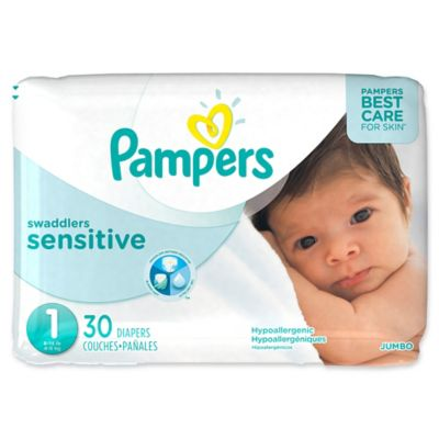 Pampers® Swaddlers Sensitive™ 30-Count Size 1 Jumbo Pack Diapers