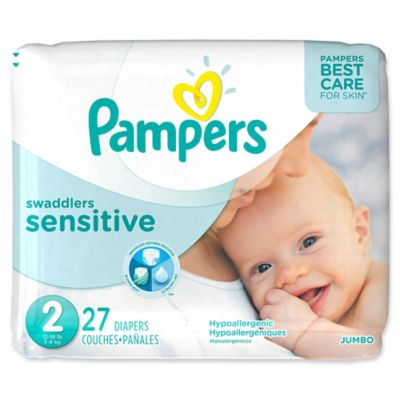 Pampers® Swaddlers Sensitive™ 27-Count Size 2 Jumbo Pack Diapers