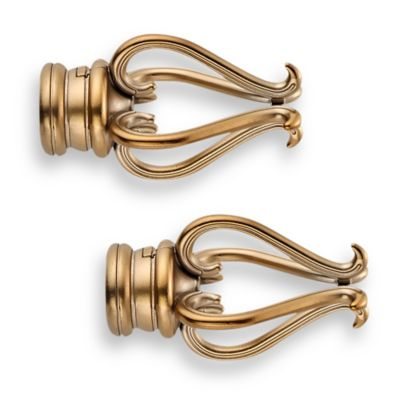 Cambria® Premier Complete Florentine Finial in Warm Gold (Set of 2)