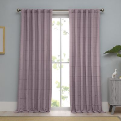 Real Simple® Linear 63-Inch Woven Ribbed Matelasse Window Curtain Panel in Stone