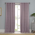 100% Cotton Woven Ribbed Matelasse Window Curtain Panel