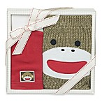 Baby Starters 2-Piece Sock Monkey Diaper Pant and Hat Gift Set in Red