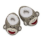Baby Starters Sock Monkey Plush Slippers in Tan