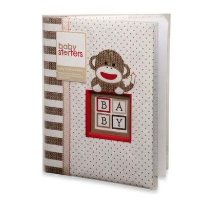 Baby Starters Sock Monkey Memory Book in Tan