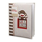 Baby Starters® Sock Monkey Memory Book in Tan