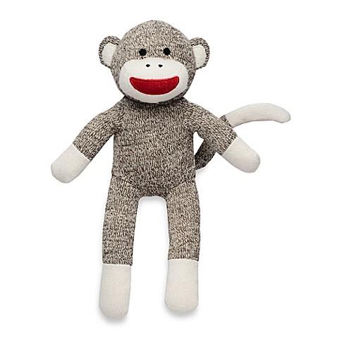 Baby Starters® Sock Monkey Plush Toy in Tan Sweater Knit ...
