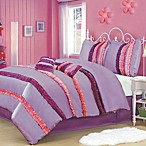 Ruffle Power 5-6 Piece Comforter Set in Pink