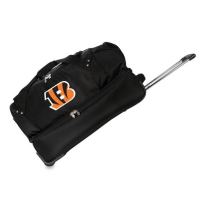 NFL Cincinnati Bengals 27-Inch Drop Bottom Rolling Duffel Bag