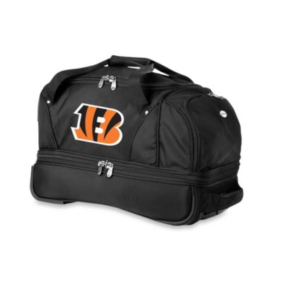 NFL Cincinnati Bengals 22-Inch Drop Bottom Wheeled Duffel Bag